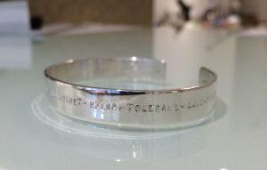 "Jewellery by Helena Skolling: armband ""All I wish is you"""
